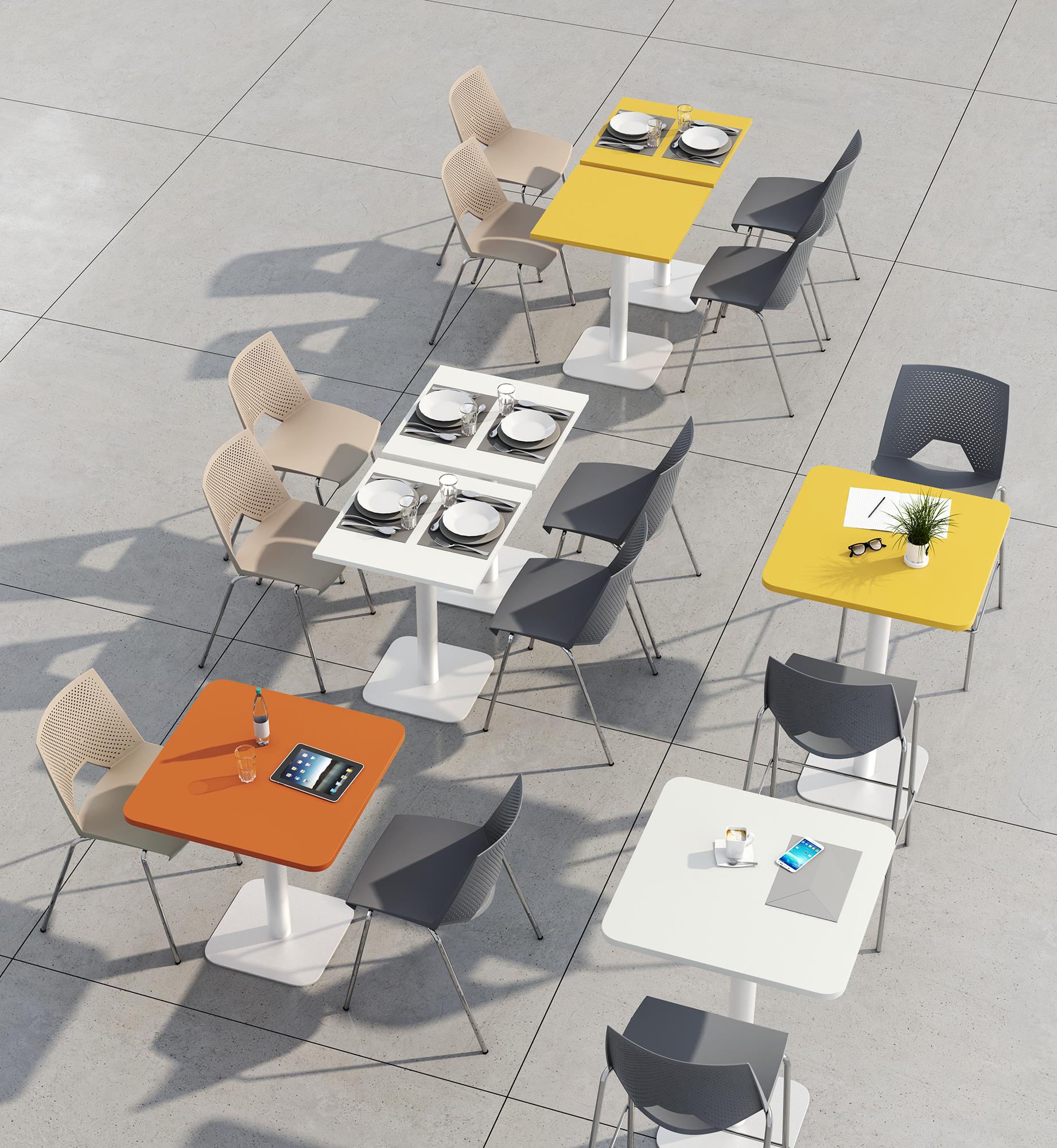 TABLES CARRÉ ARRONDI ambiance P206