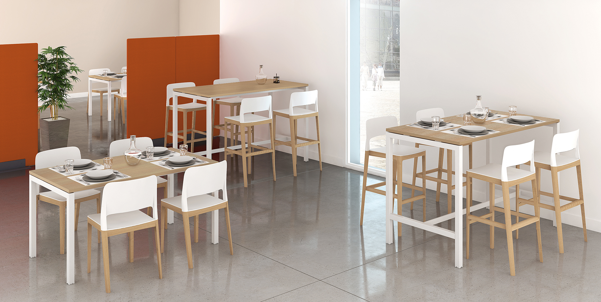 TABLES PIEDS ARCHE ambiance P216